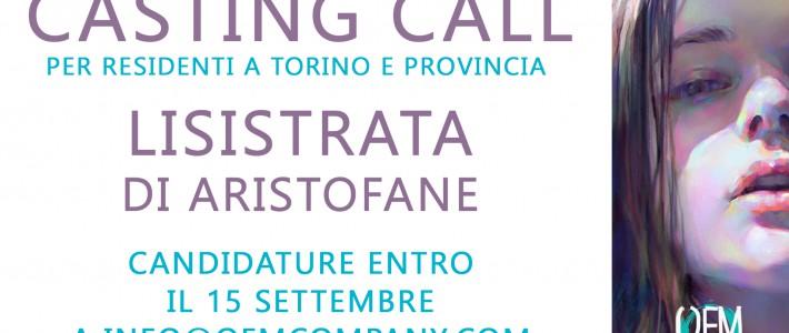 CASTING CALL – LISISTRATA DI ARISTOFANE